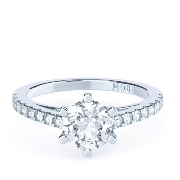 Brilliant Cut Diamond Solitaire 'Cheyenne' Ring with diamond band - Gemma Stone  ABN:51 621 127 866
