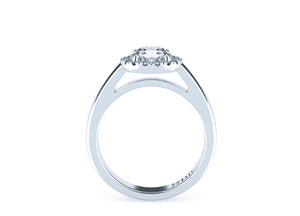 Brilliant Cut Diamond Halo 'Chelsea' Ring - Gemma Stone  ABN:51 621 127 866