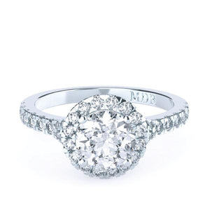 Brilliant Cut Halo Diamond 'Andrea' Ring with diamond band - Gemma Stone  ABN:51 621 127 866