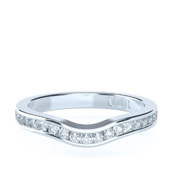 The 'Helena' Diamond Fitted Wedding Ring - Gemma Stone Jewellery