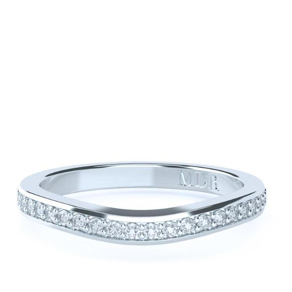 The 'Georgia' Diamond Fitted Wedding Ring - Gemma Stone  ABN:51 621 127 866