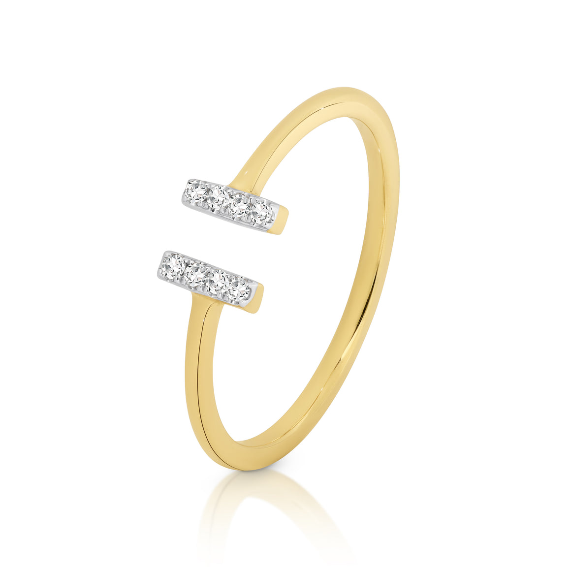 9ct Gold and Diamond 'Harlow' Ring - Gemma Stone Jewellery