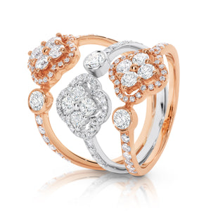 "18ct White & Rose Gold ""Clover"" Ring - Gemma Stone  ABN:51 621 127 866"