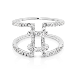 "18ct White Gold and diamond ""Hailey"" Ring - Gemma Stone Jewellery"
