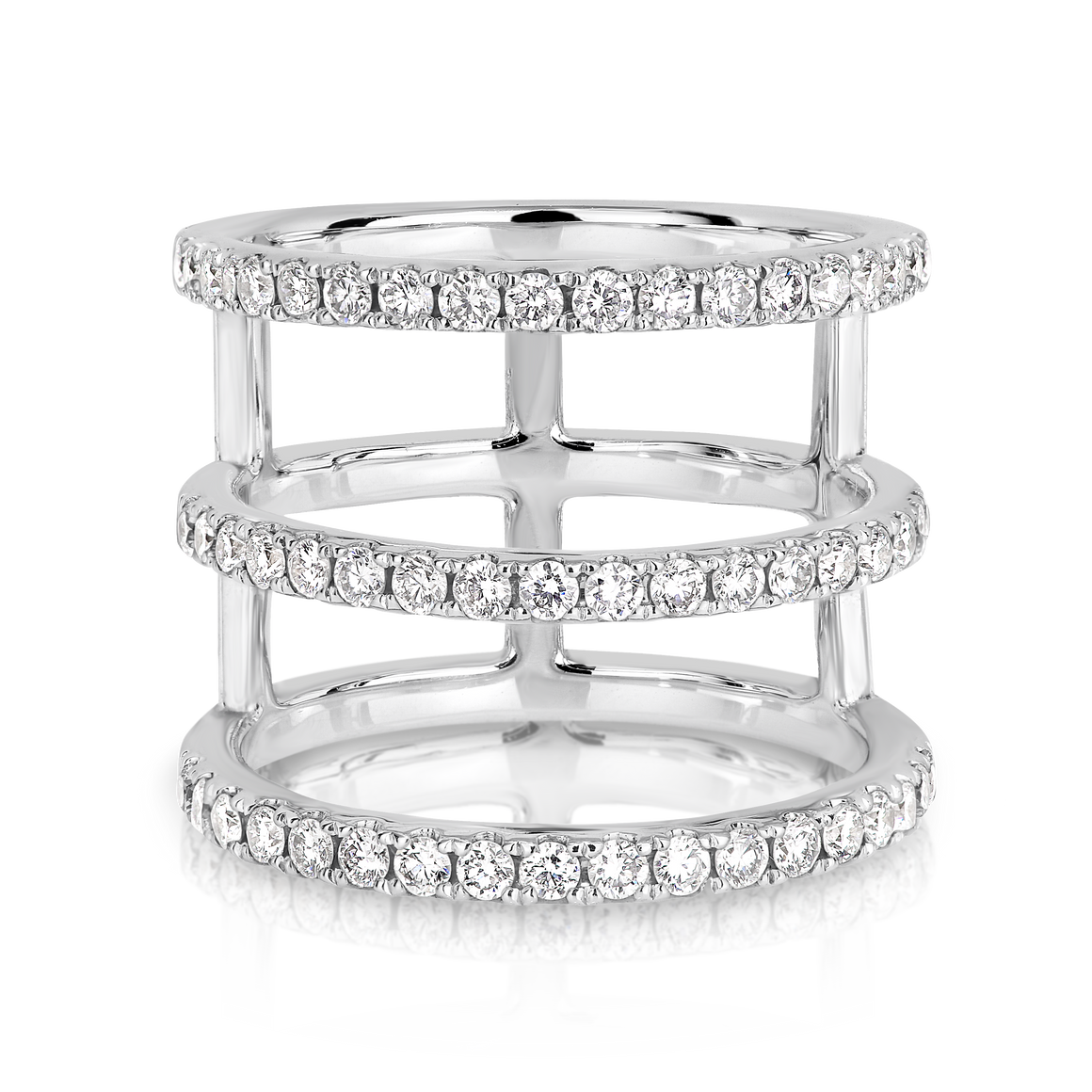 The 18ct White Gold  'Tryptique' Diamond Ring - Gemma Stone  ABN:51 621 127 866