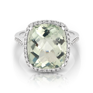 Green Amethyst & Diamond 'GiGi' Ring - Gemma Stone  ABN:51 621 127 866