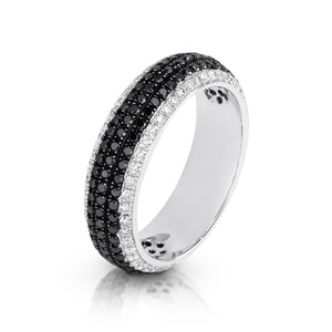 Black and White Diamond Pavé  'Unity' Ring - Gemma Stone  ABN:51 621 127 866