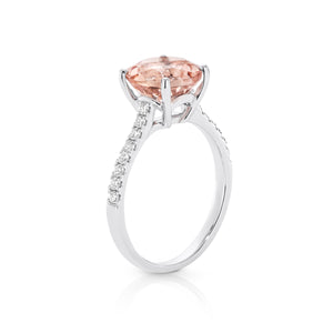 Morganite and Diamond 'Lucille' Ring - Gemma Stone Jewellery