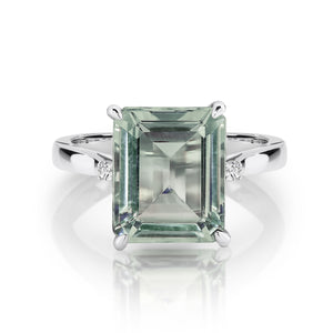 Green Amethyst & Diamond 'Maeve' Ring - Gemma Stone  ABN:51 621 127 866