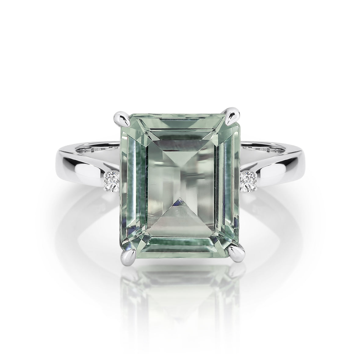 Green Amethyst & Diamond 'Maeve' Ring - Gemma Stone Jewellery