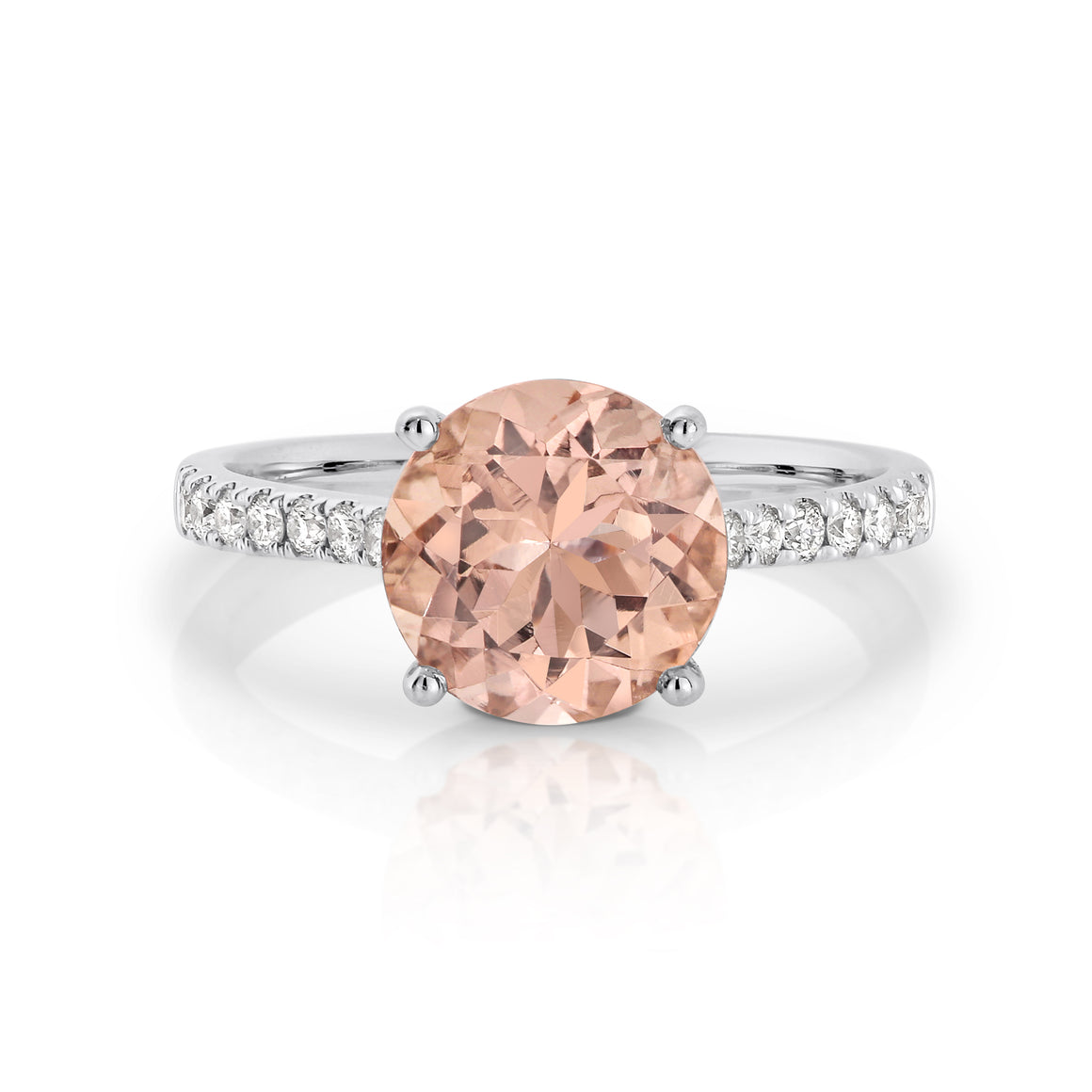 Morganite and Diamond 'Lucille' Ring - Gemma Stone  ABN:51 621 127 866
