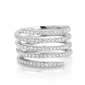 Diamond Coil 'Lana' Ring - Gemma Stone  ABN:51 621 127 866