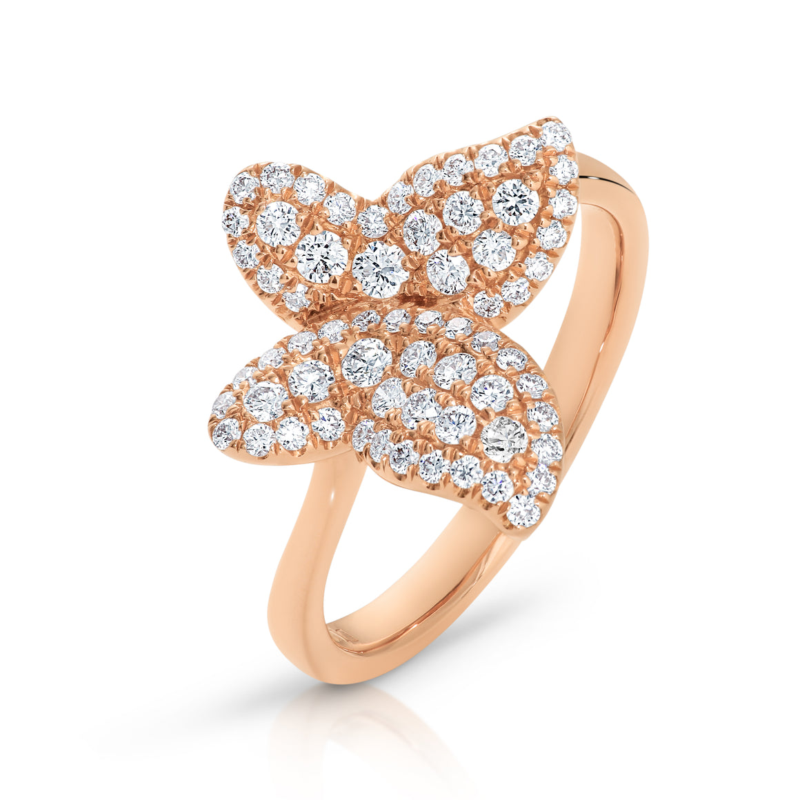 "18ct Rose Gold & Diamond ""Butterfly"" Ring - Gemma Stone Jewellery"
