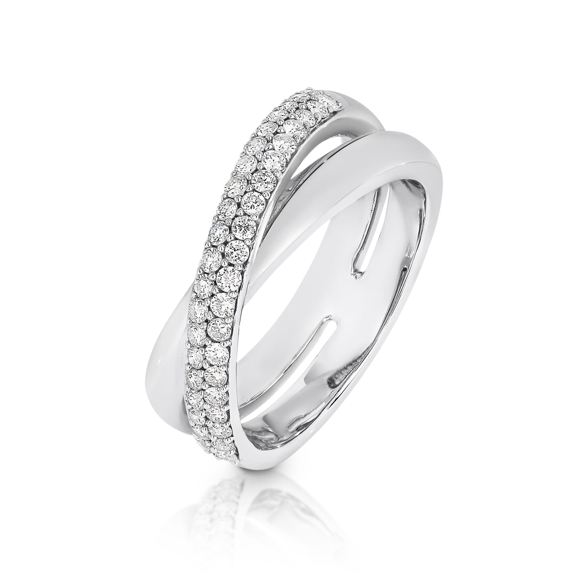 18ct White Gold Diamond 'Lanus' Ring - Gemma Stone Jewellery
