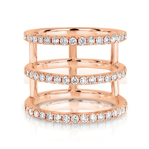 The 'Tryptique' Diamond Ring Rose Gold - Gemma Stone  ABN:51 621 127 866
