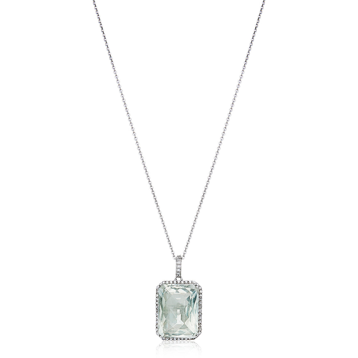 Green Amethyst, Diamond 'Gigi' Pendant & Chain