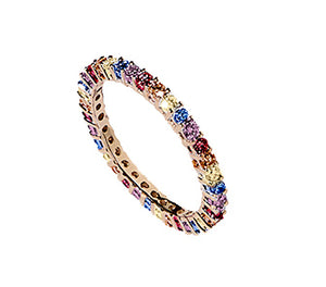 Diamond & Sapphire Eternity Ring - Gemma Stone Jewellery