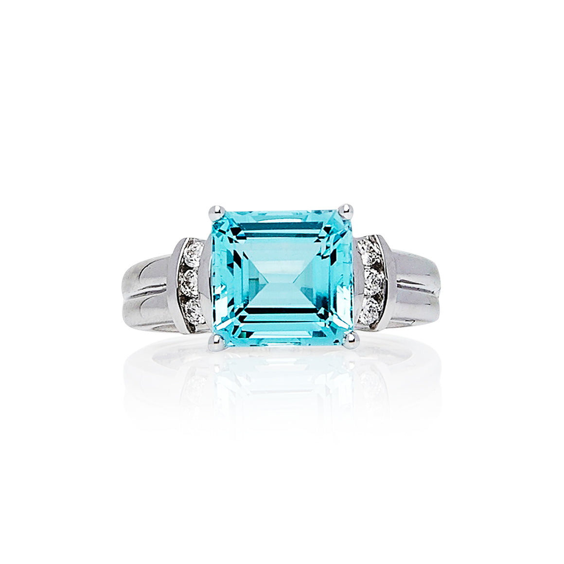 "Aquamarine & Diamond ""Vanessa"" Ring - Gemma Stone  ABN:51 621 127 866"