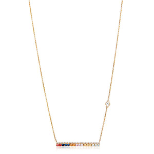 18ct Diamond & Sapphire Bar Necklace - Gemma Stone  ABN:51 621 127 866