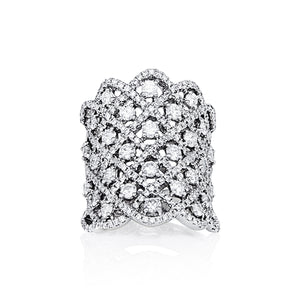 "White Gold and Diamond ""Meshie"" Ring - Gemma Stone  ABN:51 621 127 866"