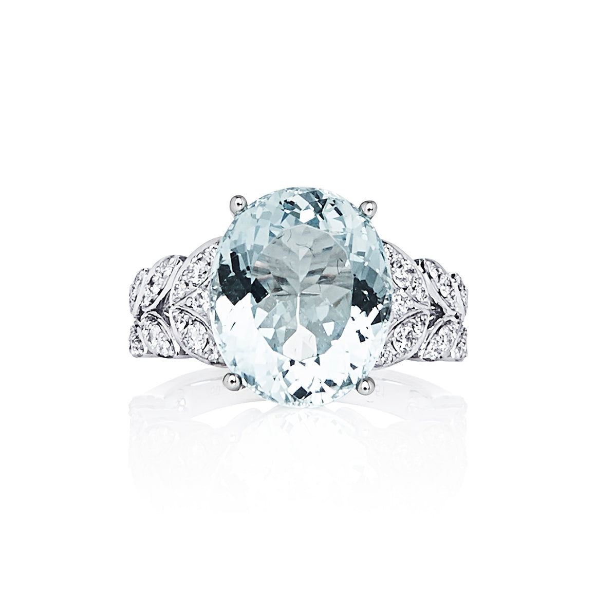 "Aquamarine & Diamond ""Hilary"" Ring - Gemma Stone  ABN:51 621 127 866"