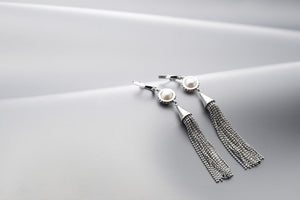 Silver & Pearl 'Gatsby' Earrings - Gemma Stone  ABN:51 621 127 866
