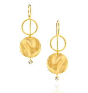 14 Carat Gold Medici Earrings - Gemma Stone Jewellery