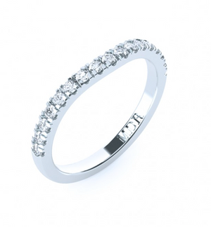 The 'Zaire' Diamond Fitted Wedding Ring - Gemma Stone Jewellery