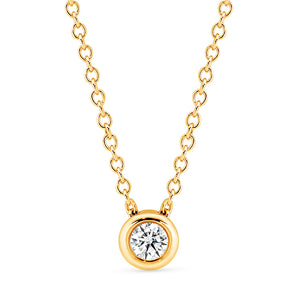 Solitaire Diamond Bezel Set Slider Necklace - Gemma Stone Jewellery