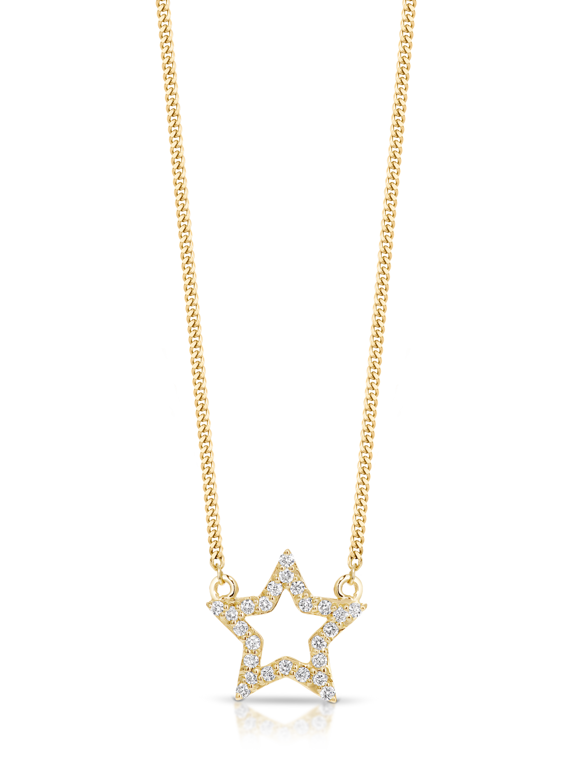 9ct Gold and Diamond 'Star' Necklace - Gemma Stone Jewellery