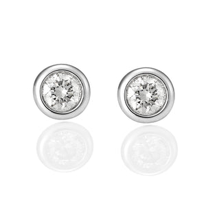 Bezel Set Diamond Stud Earrings - Gemma Stone Jewellery