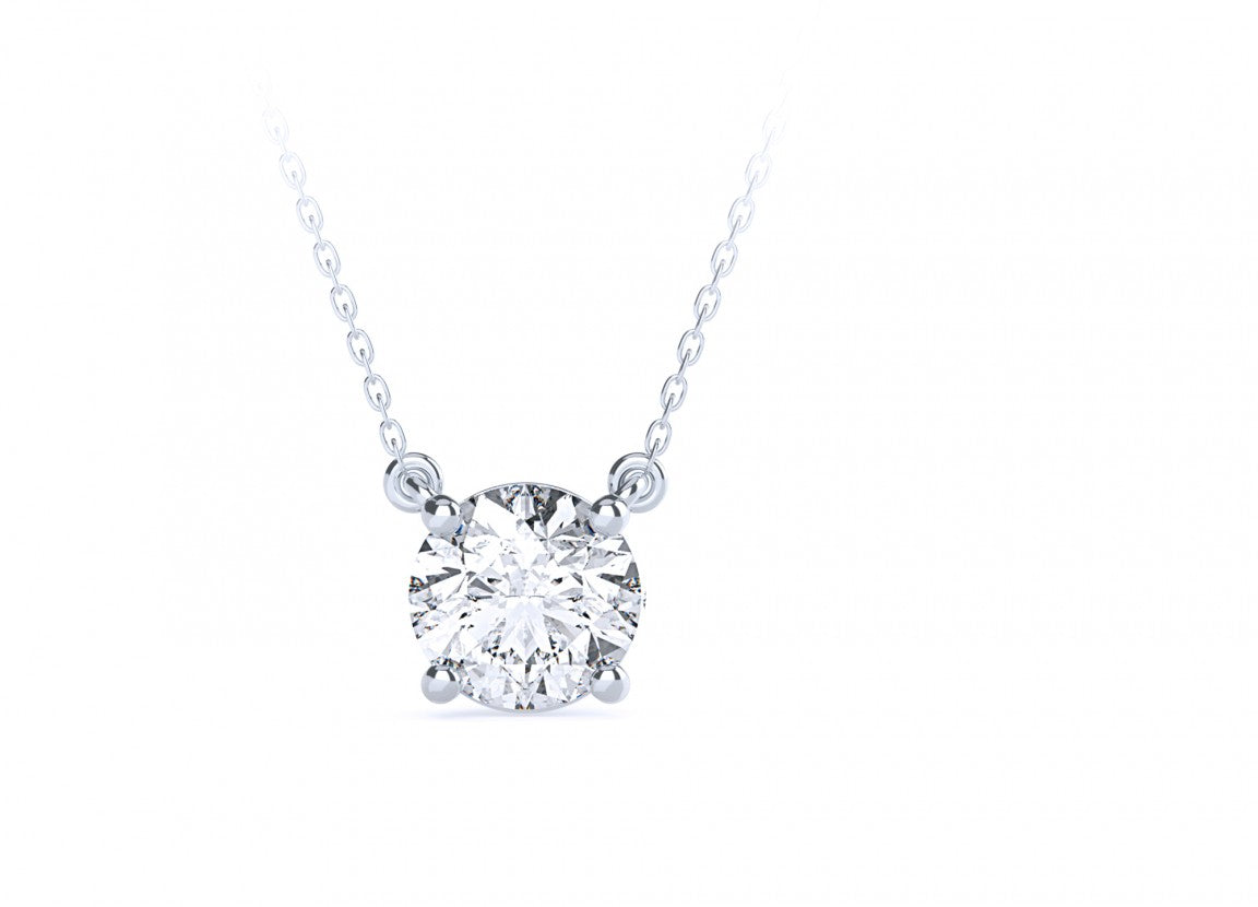 Diamond Solitaire Necklace (0.50) carat - Gemma Stone Jewellery