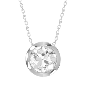 14ct Diamond Bezel Set Necklace - Gemma Stone Jewellery
