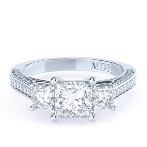 Princess Cut Diamond Trilogy 'Janie' Ring - Gemma Stone Jewellery