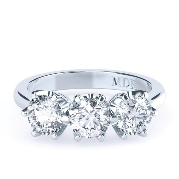 Brilliant Cut Diamonds 'Melania' Trilogy Ring - Gemma Stone  ABN:51 621 127 866