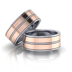 The 'Montauk' Unisex Wedding/Engagement Rings - Gemma Stone Jewellery