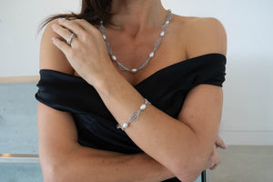 "The ""Alexandra"" Silver and Pearl Necklace - Gemma Stone  ABN:51 621 127 866"