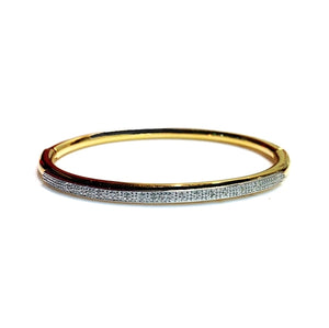 Silver & Diamond 'Apelle' Bangle - Gemma Stone  ABN:51 621 127 866