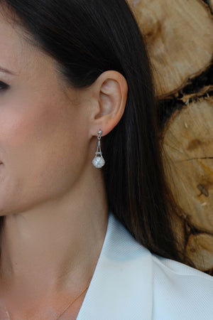 "The ""Arielle"" Silver and Pearl Earrings - Gemma Stone  ABN:51 621 127 866"