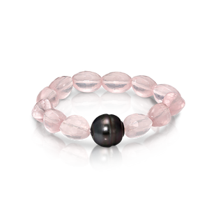Rose Quartz and Pearl Bracelet - Gemma Stone Jewellery