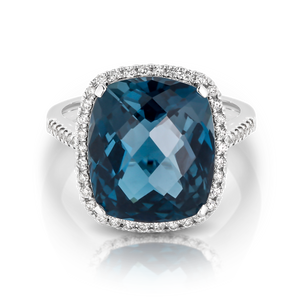 London Blue Topaz 'Celia' Ring - Gemma Stone  ABN:51 621 127 866