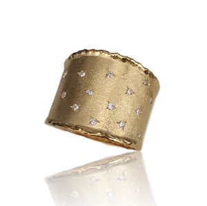 14ct Yellow Gold and Diamond Apollo Ring - Gemma Stone  ABN:51 621 127 866