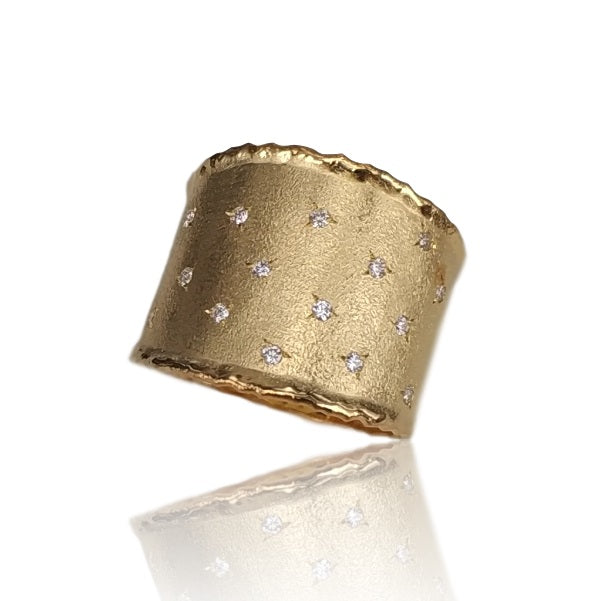 14ct Yellow Gold and Diamond Apollo Ring - Gemma Stone Jewellery