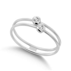 Diamond Bezel Duo Ring - Gemma Stone  ABN:51 621 127 866