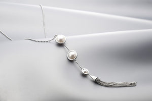 Silver & Pearl 'Gatsby' Necklace - Gemma Stone  ABN:51 621 127 866