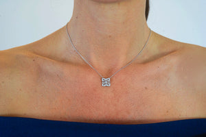 Diamond 'Double Happiness' Necklace - Gemma Stone  ABN:51 621 127 866