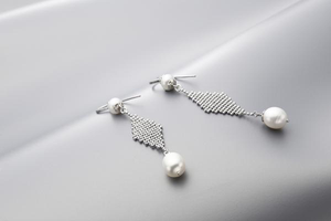 "The ""Alexandra"" Silver and Pearl Earrings - Gemma Stone  ABN:51 621 127 866"