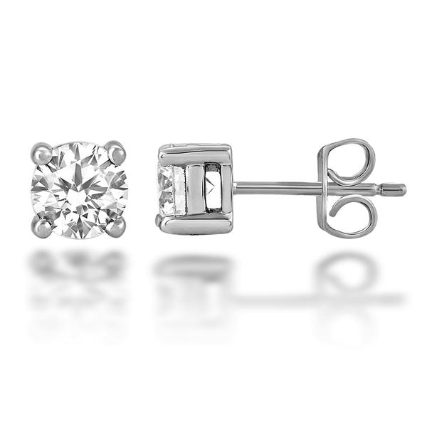 Solitaire Diamond Earrings - Gemma Stone Jewellery