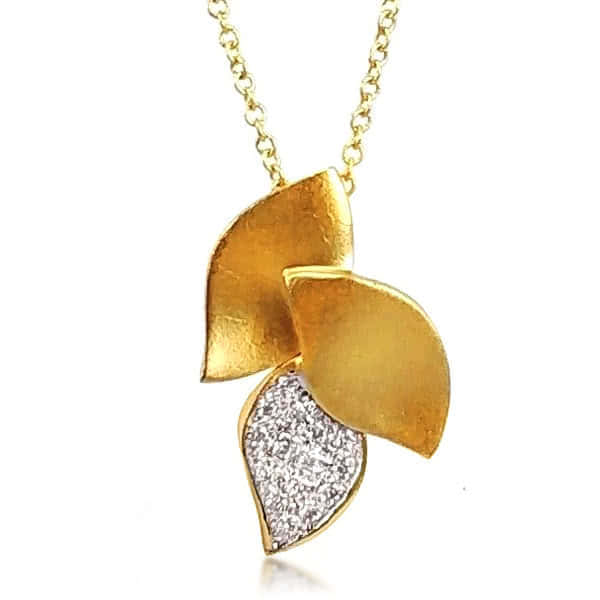 14ct Gold & Diamond Bloom Necklace - Gemma Stone Jewellery