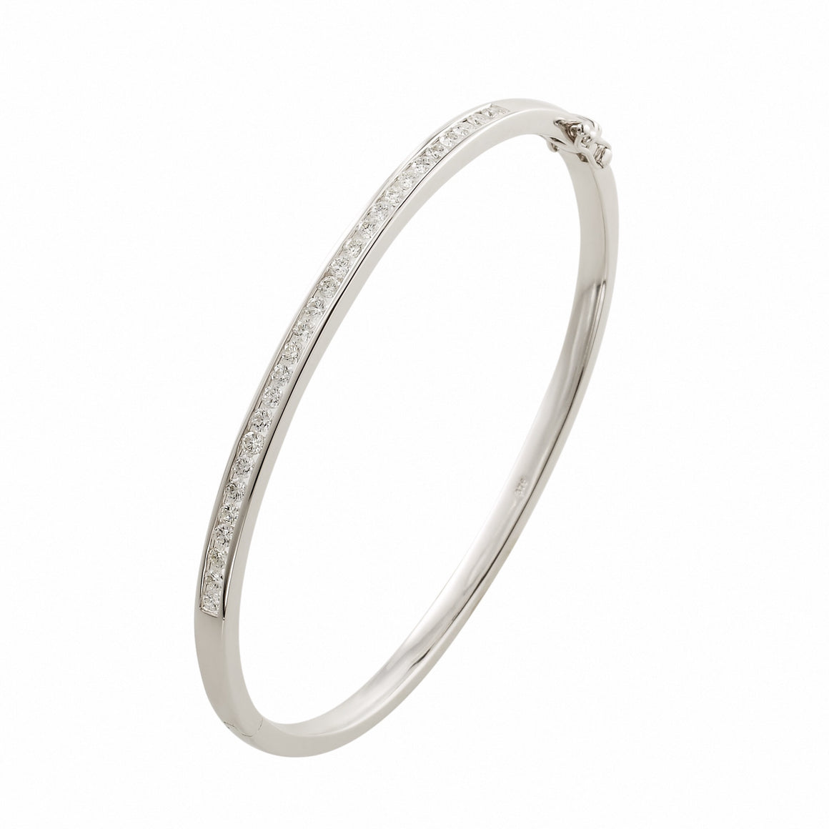 Channel Set Diamond 'Daniella ' Bangle - Gemma Stone Jewellery